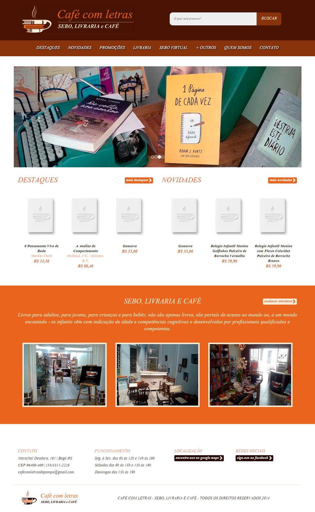 Website Café Com Letras